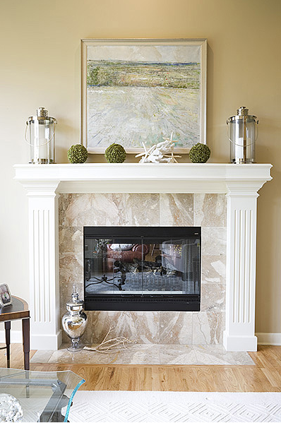 Tips on Decorating the Fireplace Mantel - Simplified Bee