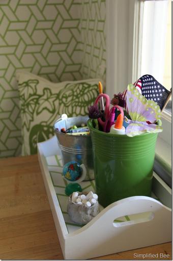 manuel canovas treillis wallpaper green white vert