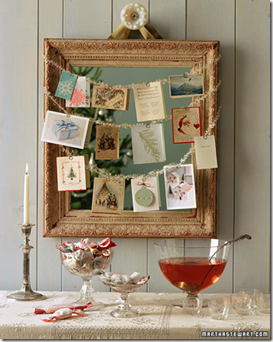 martha stewart holiday card display