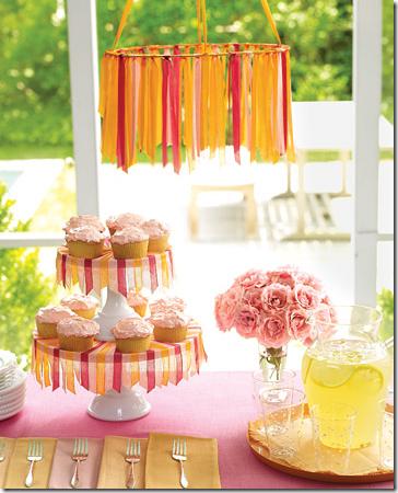 martha stewart ribbon chandelier and cake stand