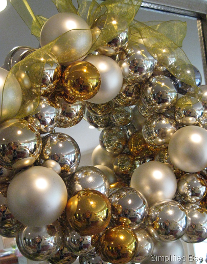 Diy archives page 11 of 12 simplified bee metallic glass ornament wreath diy silver gold solutioingenieria Gallery
