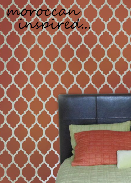 New moroccan wall stencil paint