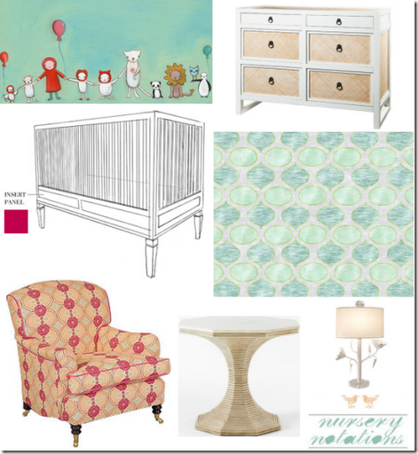 nursery notations inspiration board design girl