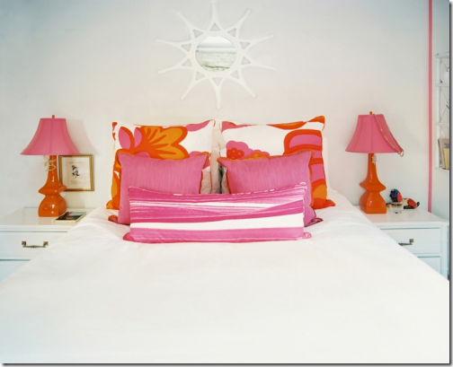 orange and pink girls bedroom