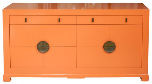 orange asian ming dresser