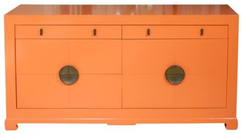 orange asian ming dresser