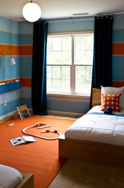 Tangerine tango pantone s color of the year 2012 for Blue and orange room