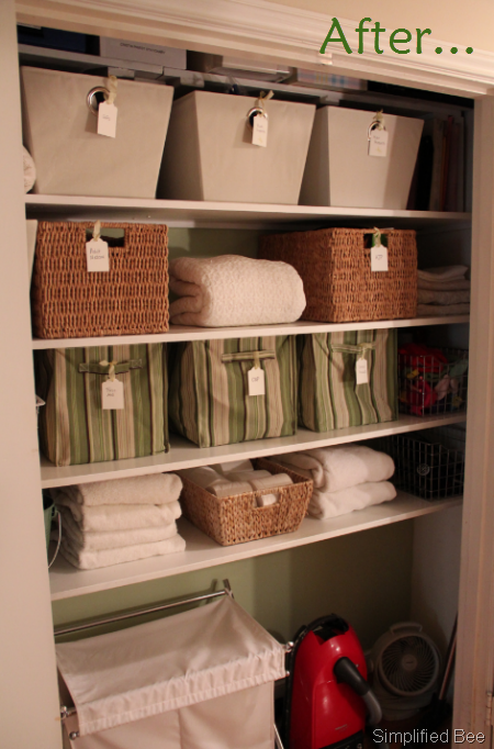 Organized Linen Closet Stylish Simple