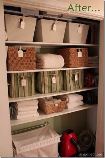 Itu0027s Ideal To Use Baskets Of The Same General Size So They Can Be Neatly  Arranged Side By Side In Your New Closet Organization System.