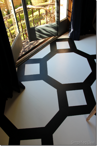 painted floor black white grant gibson showhouse