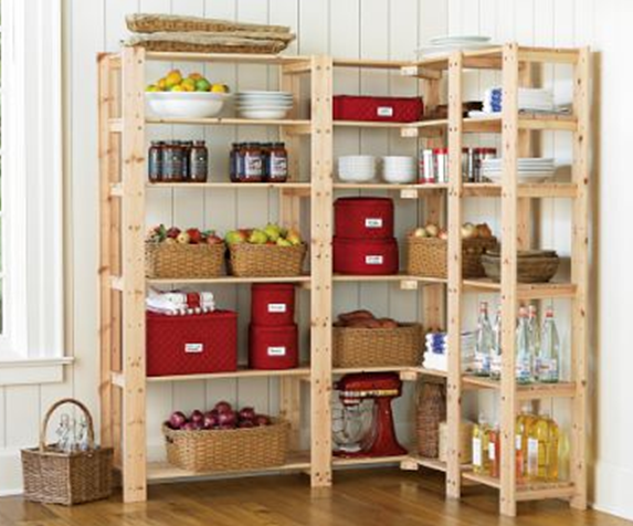 Organizing the kitchen pantry in 5 simple steps for Wood shelves for kitchen pantry