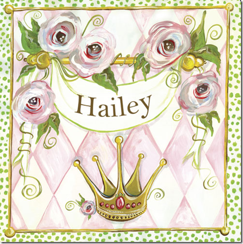 personalized artwork girls room