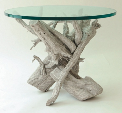 Friday find chic white decor simplified bee for Driftwood tables handmade