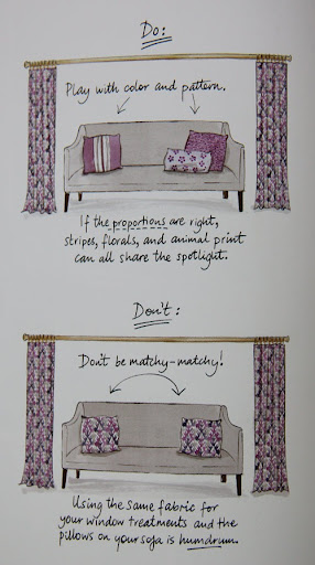pillow pattern and color tips