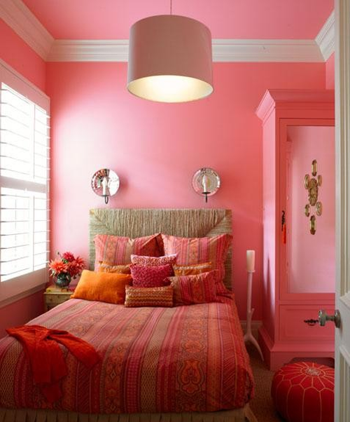 Pink and orange girls designer bedrooms simplified bee for House room color combination