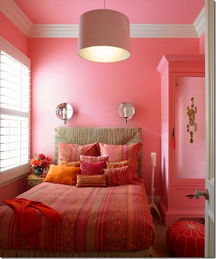 pink orange girls bedroom designer