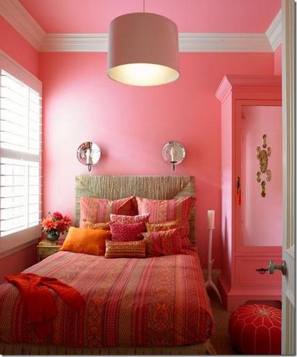 pink orange girls bedroom designer