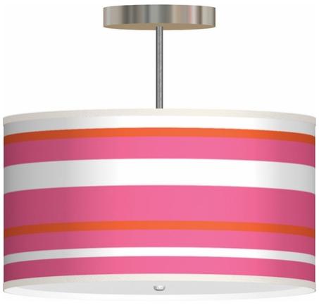 pink orange pendant light girls room