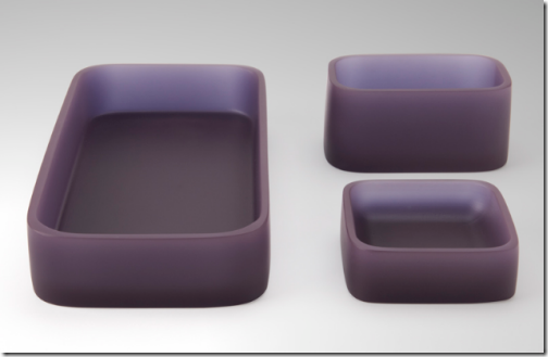 purple resin bath accessories