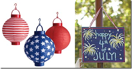 Red White Blue July 4th Paper Lanterns