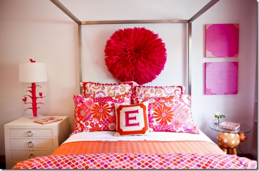 Decorating a child s bedroom simplified bee - Orange and pink bedroom ideas ...