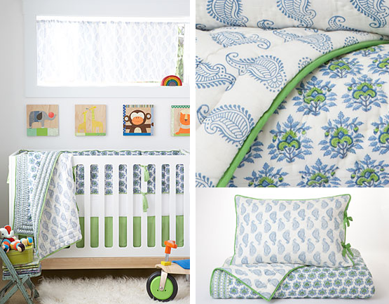 Elegant Rikshaw Design Nursery Bedding for the Bohemian Baby