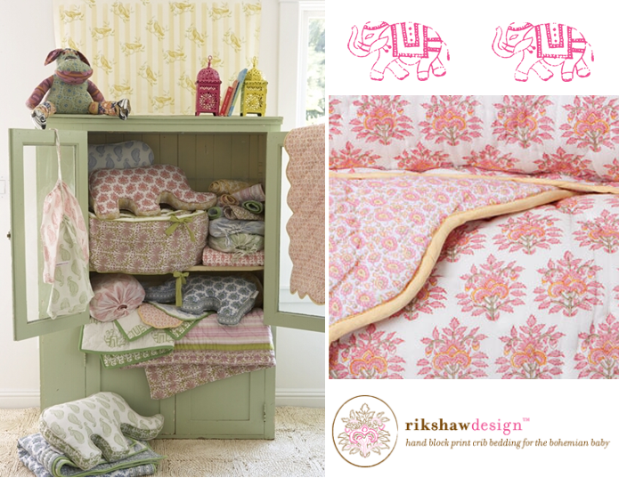 Superb Rikshaw Design Nursery Bedding for the Bohemian Baby