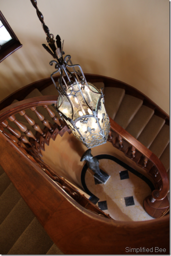 san francisco designer showhouse staircase lantern