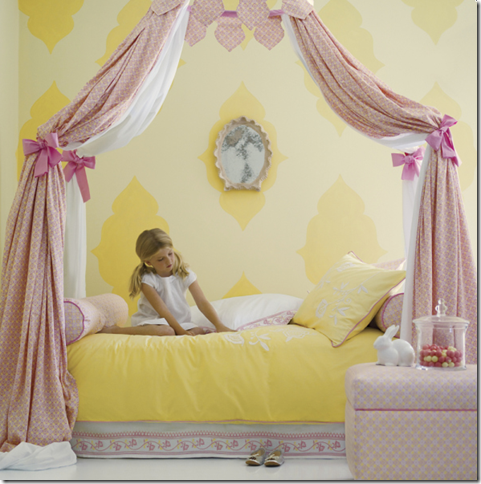 serena & Lily yellow bedding girls canopy