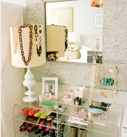 shoe and jewelry organization idea