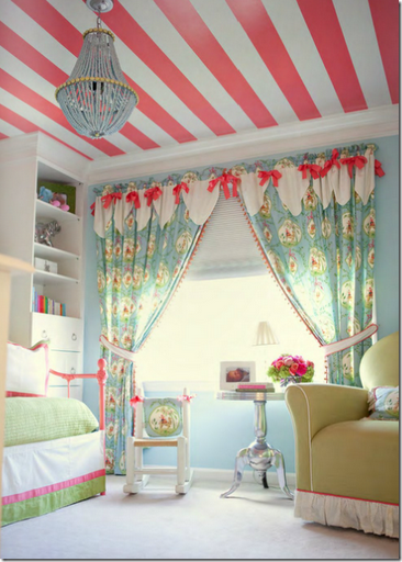 striped_painted_ceiling_girls_room