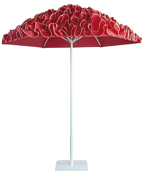 Stylish Ruffle Outdoor Umbrella