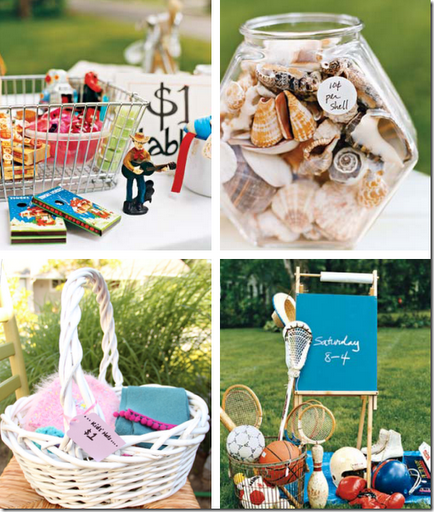 stylish yard sale displays