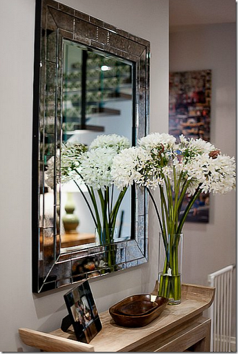 stylish entry table mirror console