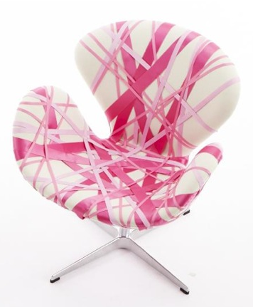 swan chair by designer vincent wolf