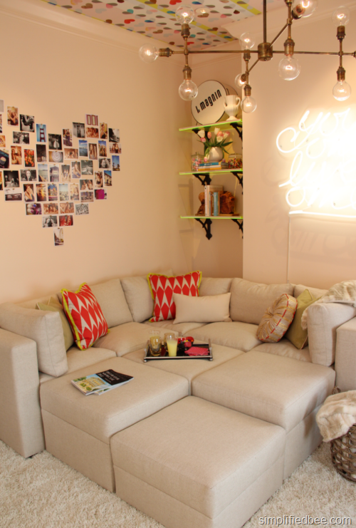 Sofa Bed Design For Teens : ... of neon in the Teen Girl's Room designed by Em Design Interiors