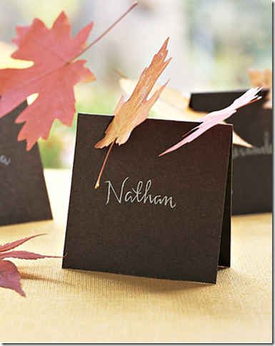 Thanksgiving Place Card Ideas And Wemb Giveaway Winners
