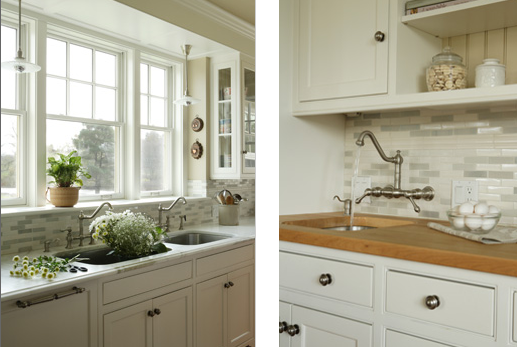 Gallery For White Kitchen Backsplashes