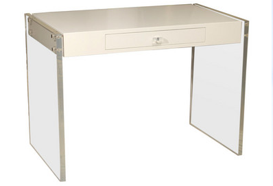 Drakeu0027s Inspirational Desk Drew Me To This Sleek Lucite Desk At Pieces.  That Darn Price Tag!