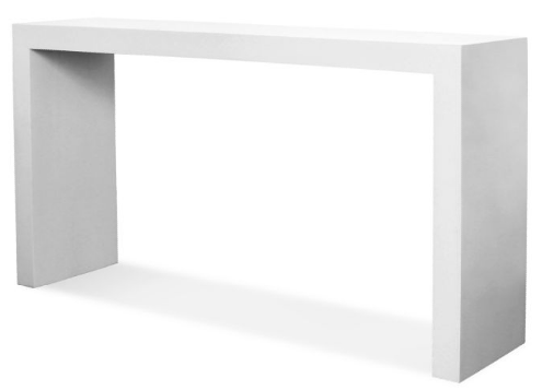 white lacquer console table jonathan adler