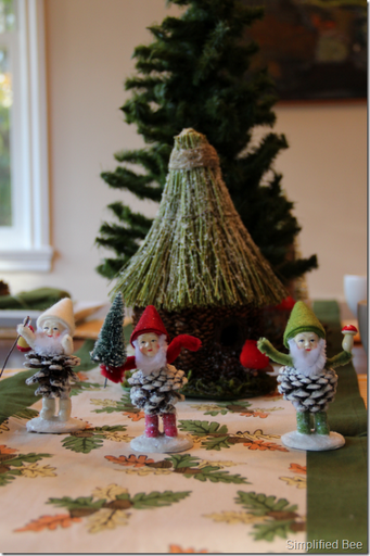 woodland christmas table setting and decor