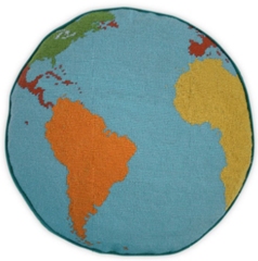 world map pillow jonathan adler