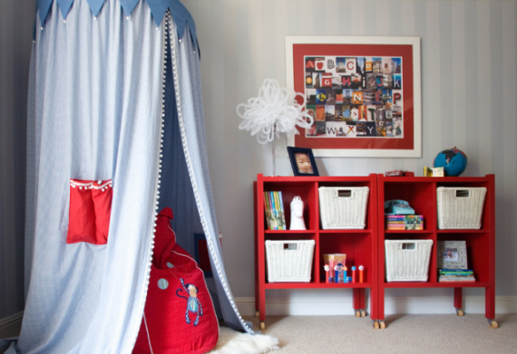 Blue Tent Boys Designer Bedroom