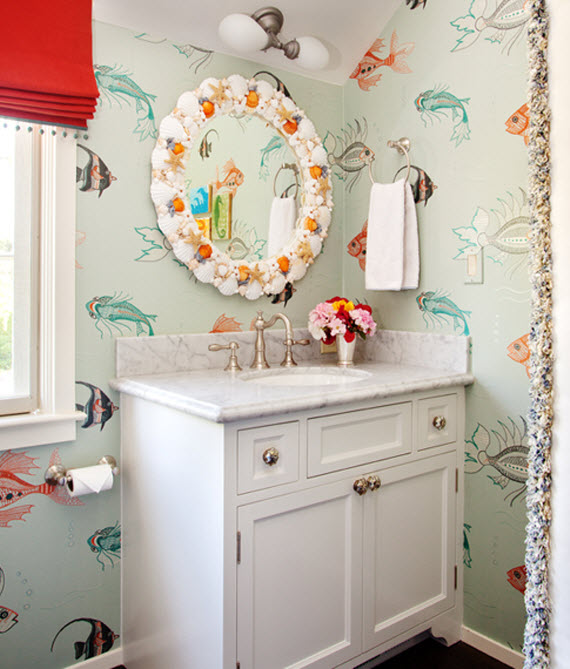 kids Bathroom Fish Wallpaper