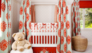 Orange Designer Baby Nursery Room