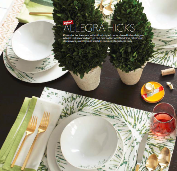 Allegra Hicks for West Elm Dinnerware