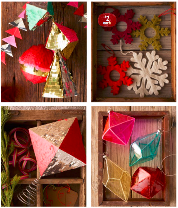 Colorful Holiday Ornaments West Elm