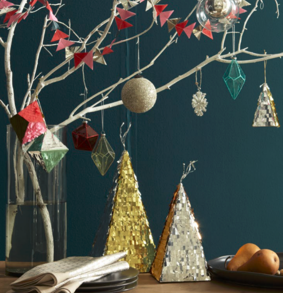 West Elm Holiday Tree Metallic