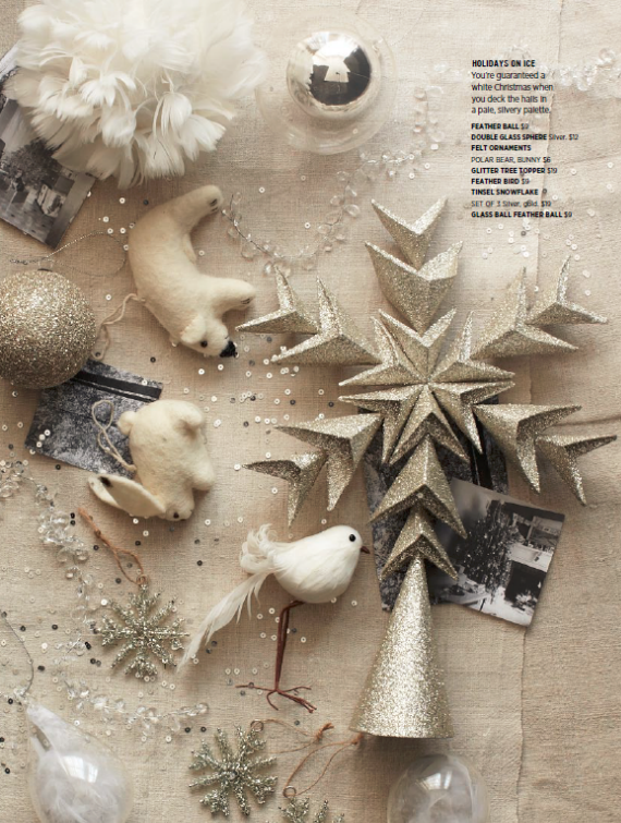 West Elm Metallic Silver Holiday Ornaments