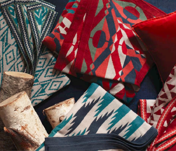 Graphic Winter Blankets West Elm